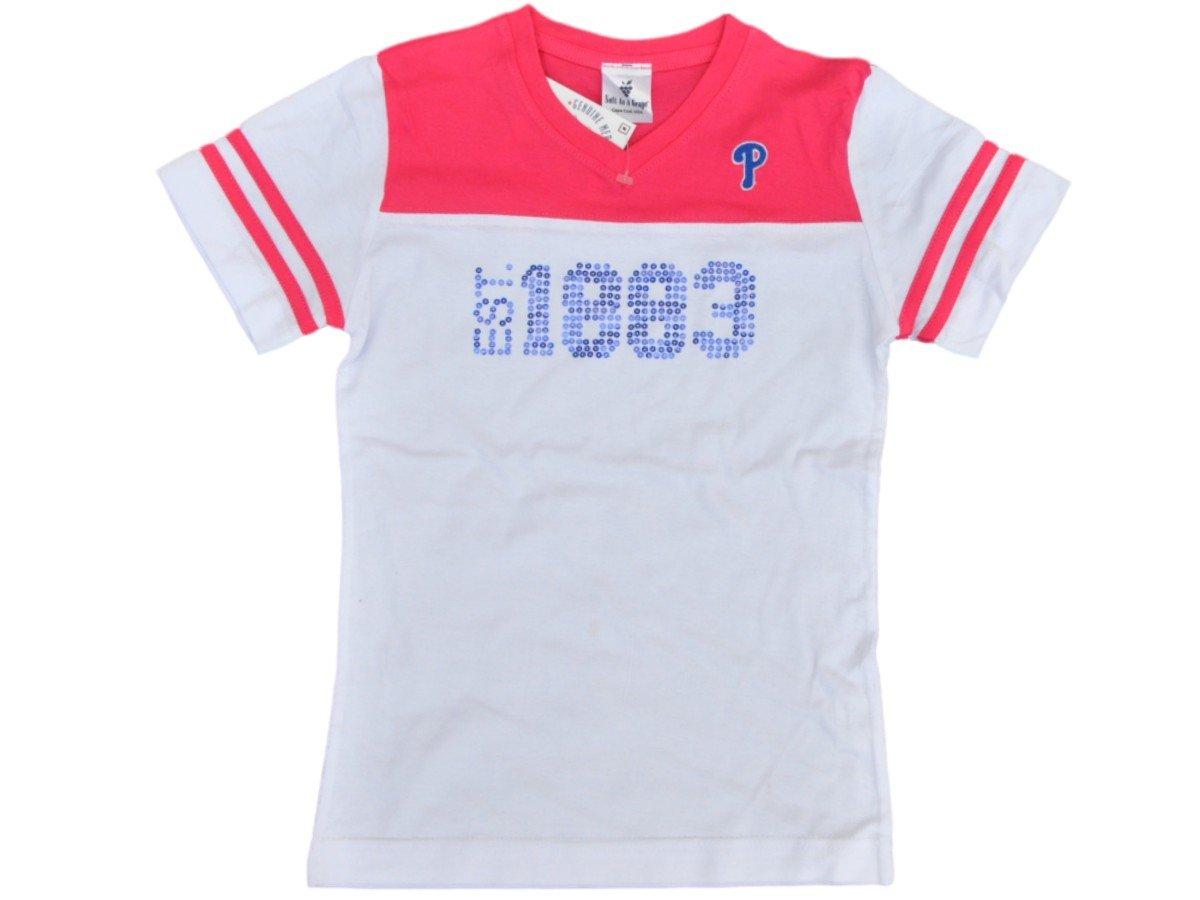 【ポイント10倍】 Philadelphia Medium Phillies Saag Phillies Youth GirlsホワイトピンクコットンVネックTシャツ Medium Youth B0145JJQJ2, 羽島市:4f78fb9d --- a0267596.xsph.ru