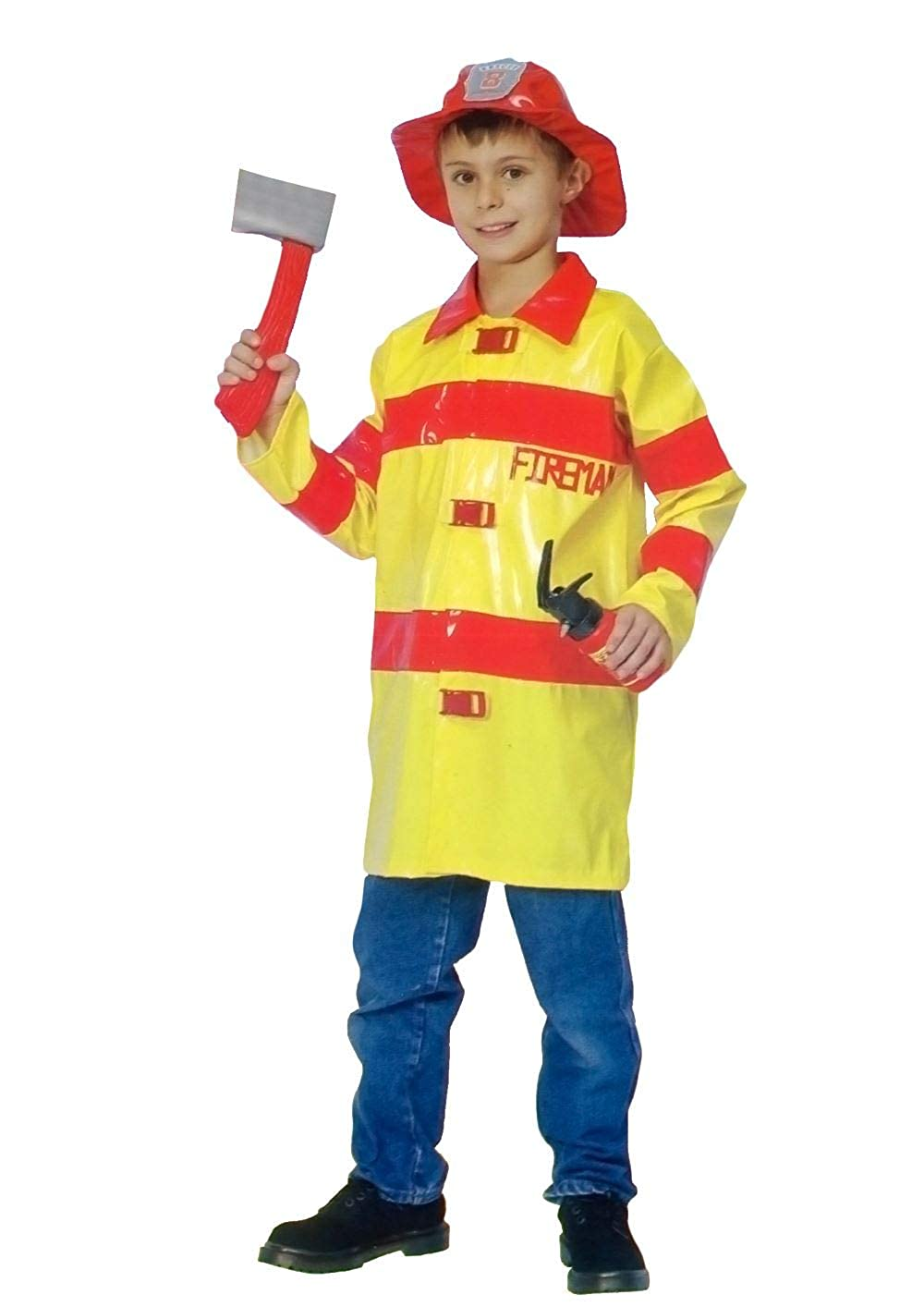 Amazon.com: Disfraz de bombero Sam Fire Fighter para niños ...