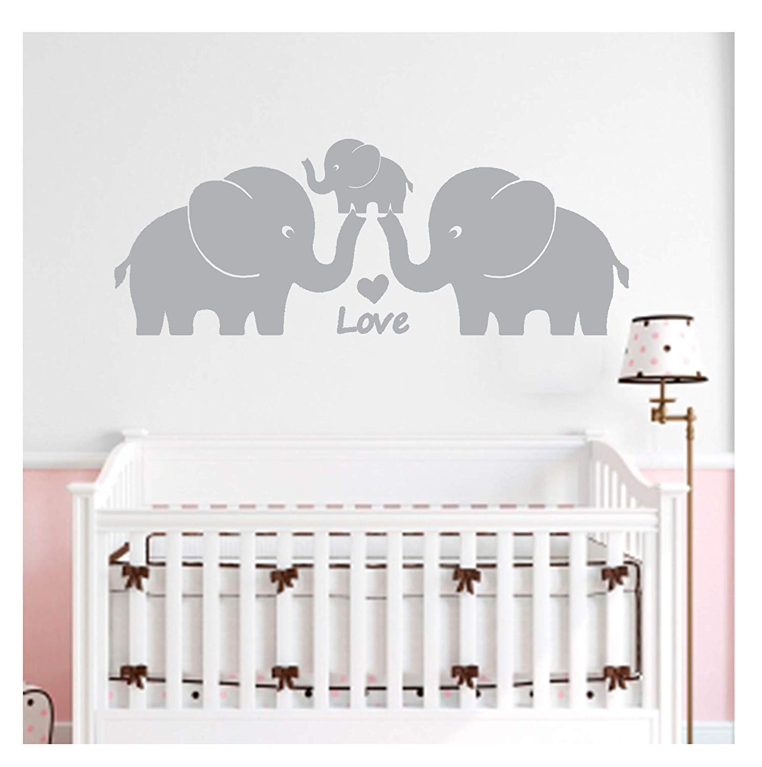 MAFENT One Lovely Elephant Blowing Bubbles Wall Decal Vinyl Wall Sticker for
