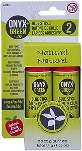 Onyx and Green 4701 Glue Sticks, Non-Toxic, 2 Piece