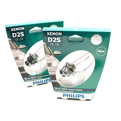 PHILIPS Xenon X-TremeVision Gen2 +150% D2S HID Xenon Bulbs Set Of Two 85122XV2S1: Automotive