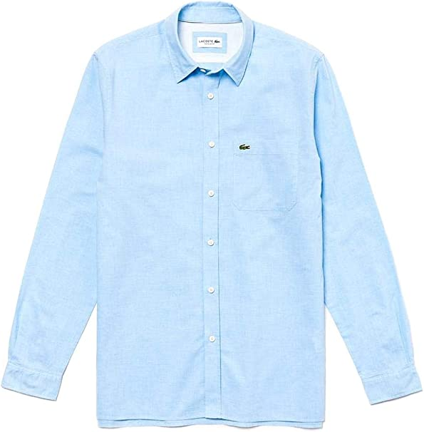 Lacoste Camisa Popelin Azul Claro Hombre 39 Azul: Amazon.es: Ropa y accesorios