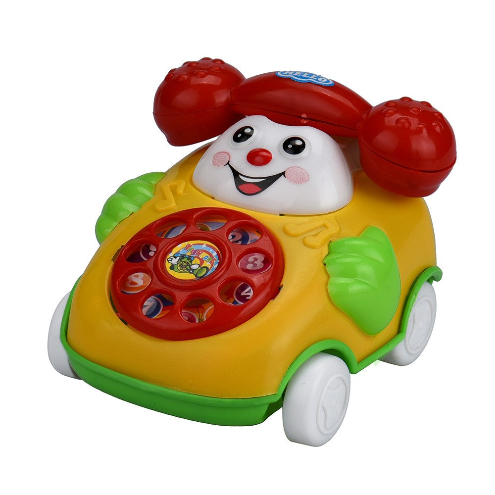 Wenini Telephone Car Top Chain Car Educational Toys - Cartoon Smile Phone Car Developmental Kids Toy Gift for Ages 3 Years Over (Random) by Wenini (Image #1)