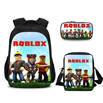 Roblox Backpack with Pencil Case & Satchel, Game Fans Gifts, Student  Bookbag Laptop Backpack Travel Computer Bag for Boys Girls Kids Teens  (Color 1)
