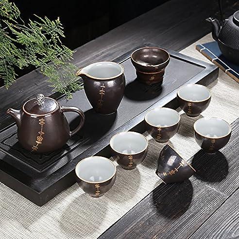 CUPWENH Geschenk   Kung Fu Kaffee Geschenkverpackung Haushalt Porzellan  Teetassen Modernen Schriftzug?Teeservice