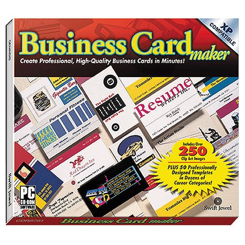 Amazoncom COSMI Business Card Maker Windows - Windows business card template