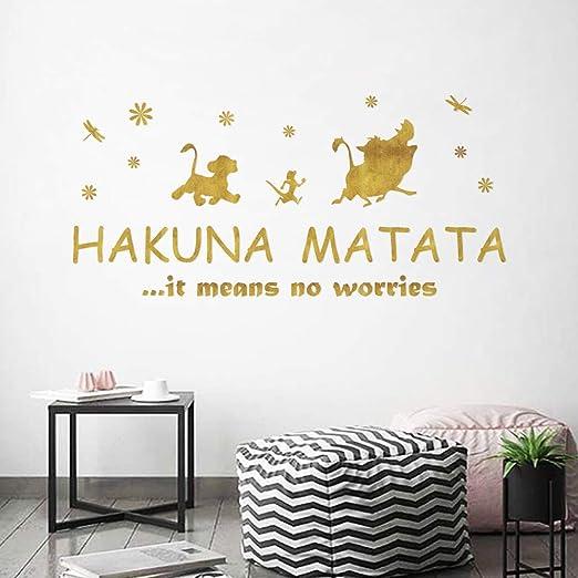 ufengke Wandtattoo Sprüche Hakuna Matata Golden ...