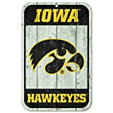 WinCraft Iowa Hawkeyes Official NCAA 11'' x 17'' Fence Plastic Wall Sign 11x17 by 807229