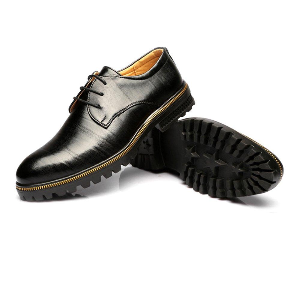 Xujw-schuhe, 2018 Schuhe herren, Herren Niedrig Top Leder Business Schuhe Matte echtes Leder Top Lace Up Breathable ausgekleidet Outsole Oxfords (Farbe : Schwarz, Größe : 40 EU) Schwarz 7d69ab