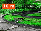 'BUY IN UK' 10 metre - flexible plastic lawn edging with 60 Securing Pegs - Anchor included-Flexible Garden Edging, Flexible Lawn Edging, Plastic Garden...