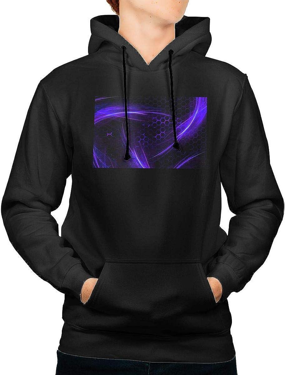 Geometry Dash Men's Warm Up Hoodie Stylish Long Sleeve Sweatshirt Super Soft Pullover