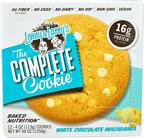 Lenny & Larry's The Complete Cookie, White Chocolate Macadamia, 4 Ounce Cookies, 12 Count