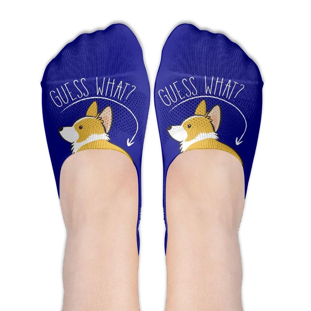 Love Corgi Butt Dog Lover Cotton Deodorant Ankle Socks Non Slip Socks For Womens