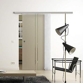 Sadora® - Puerta corredera de cristal con 2 rayas, sistema ...