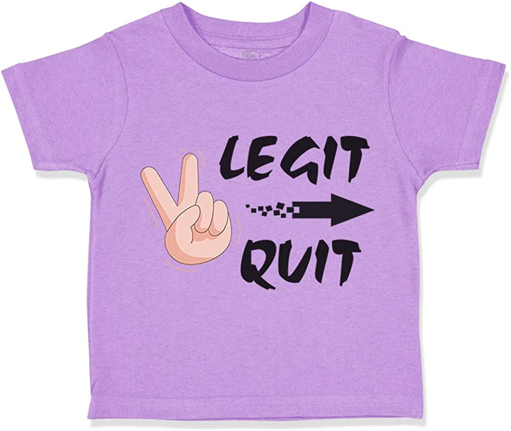 Custom Toddler T-Shirt Too Legit to Quit Funny Humor Cotton Boy /& Girl Clothes