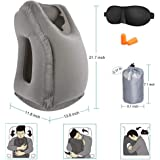 HAOBAIMEI Fast Inflating Travel Pillow, Lightweight and Portable Traveling pillow, Airplane Neck Pillow, Travel Pillows for Airplanes for fully Support, Sleep Pillow Nap Pillow, Air travel accessories
