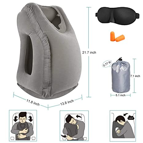 Amazon.com: Paquete de 2 almohadas de viaje, almohada de ...