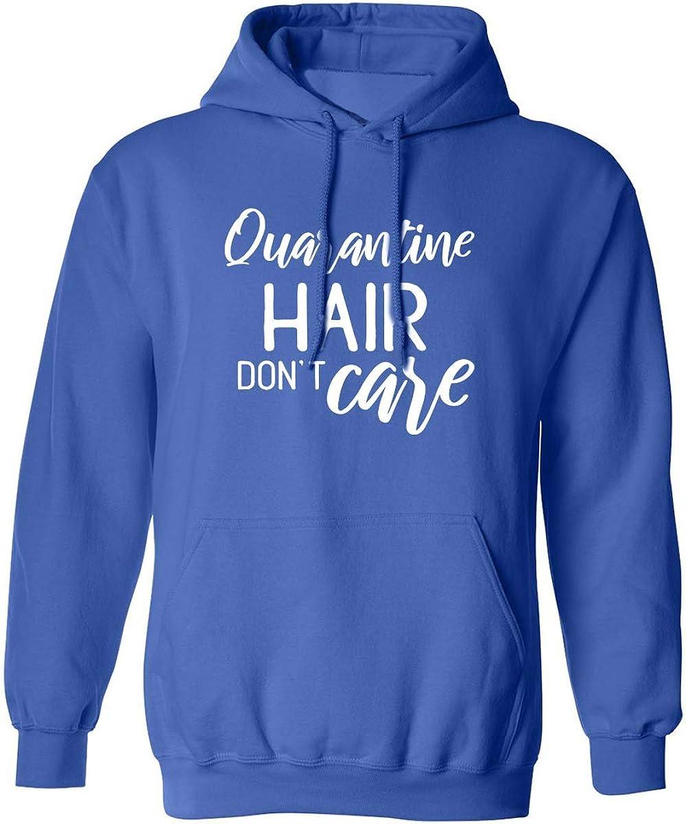 zerogravitee Quarantine Hair Dont Care Adult Hooded Sweatshirt