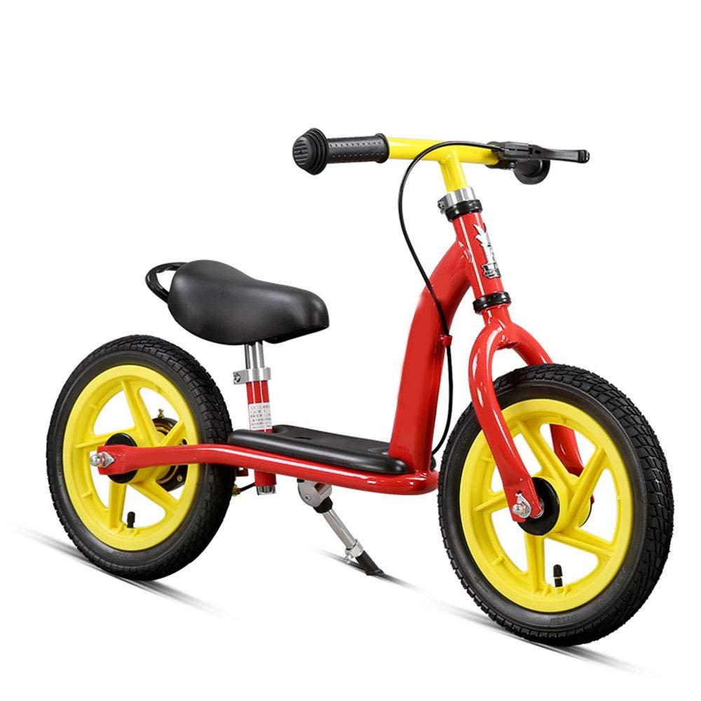 子供用自転車、バランス自転車、材質高炭素鋼、簡単取り付け、いいえ塗料の安全性と環境保護はありません、車両重量は4.9KG、長さは85cm   B07HR6SWB4