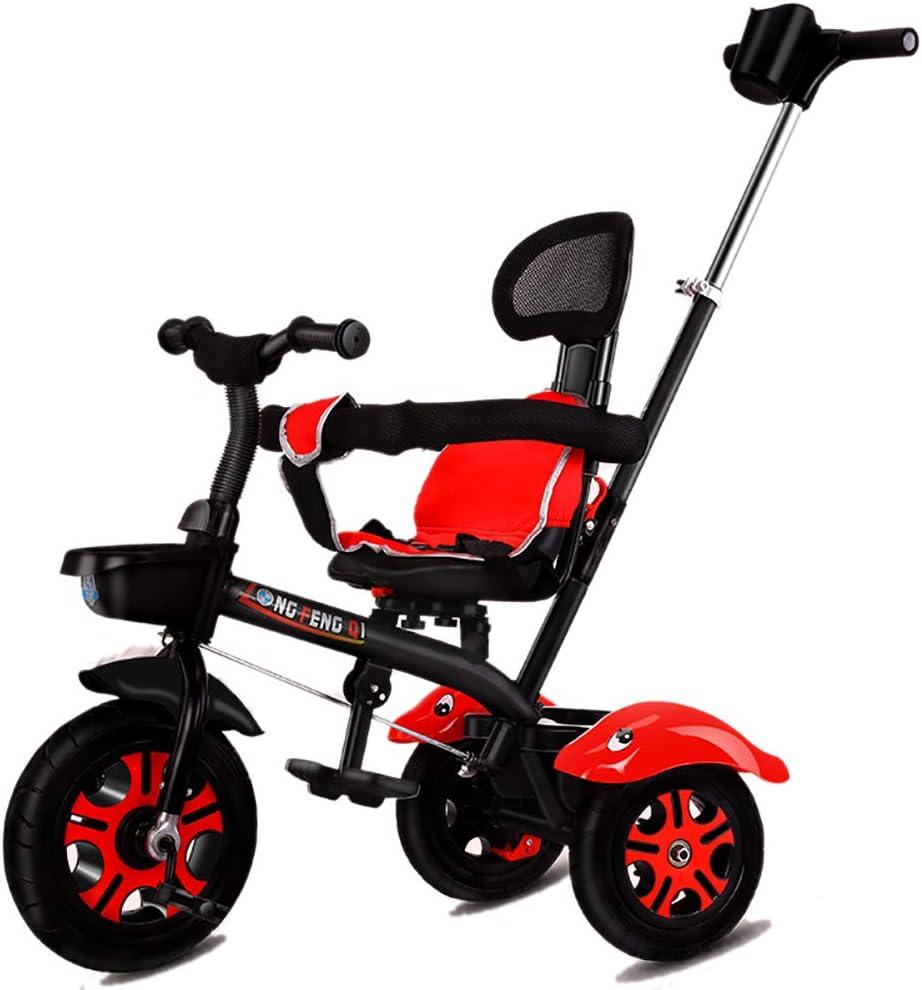 GUO@ Triciclo para NiñOs Triciclo para NiñOs 3 En 1 Triciclo con 3 Ruedas Titanio VacíO Triciclo para NiñOs con Ruedas Y Manillar para Padres Asiento Giratorio para BebéS De 1-3 A