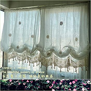 Mzpride pastoral style adjustable balloon curtain living room curtain curtains for for Balloon curtains for living room