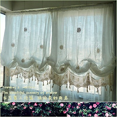 Pastoral style adjustable balloon living room curtain for the bedroom 1panel ebay for Balloon curtains for living room