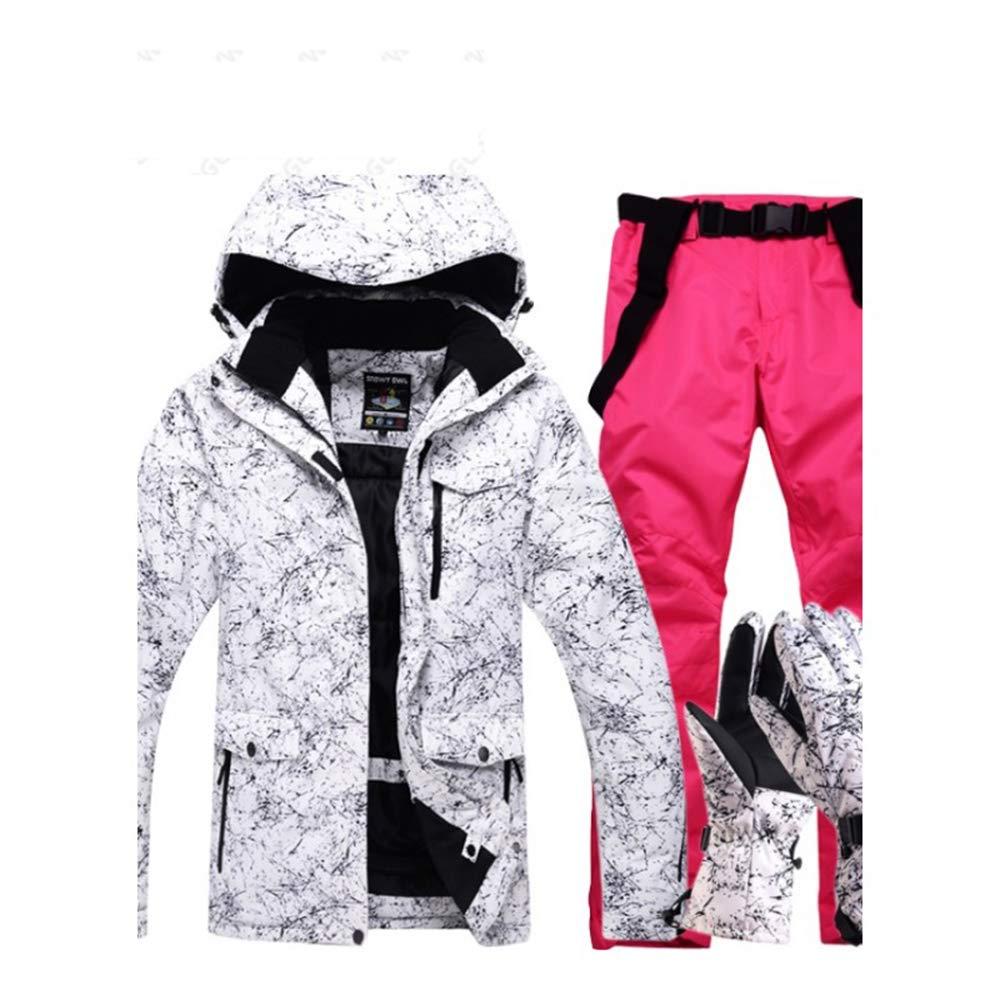 Dcrywrx Men's Windproof Waterproof Ski Suit, Men's Ski Suit