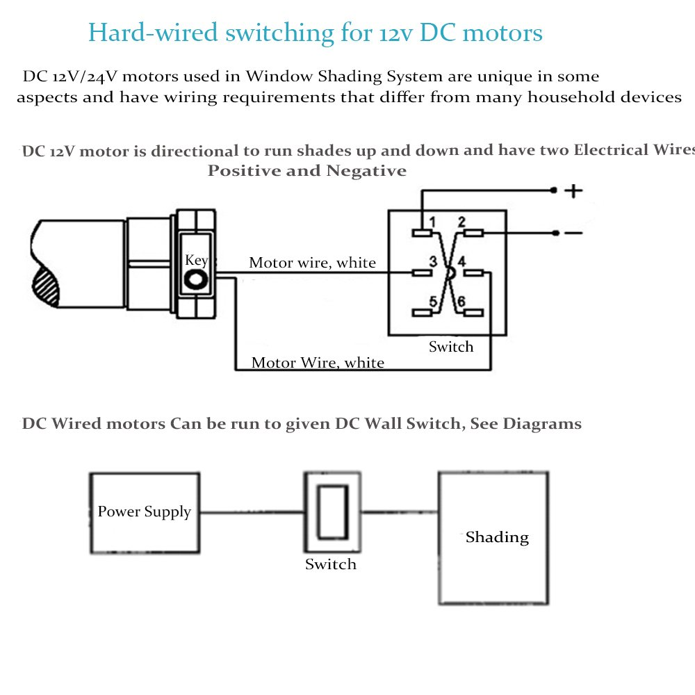 Wiring 24v Motors Blackout Electrical Diagrams 24 Volt Starter Diagram Amazon Com Rollerhouse Electric Roller Blind Shades With 16mm
