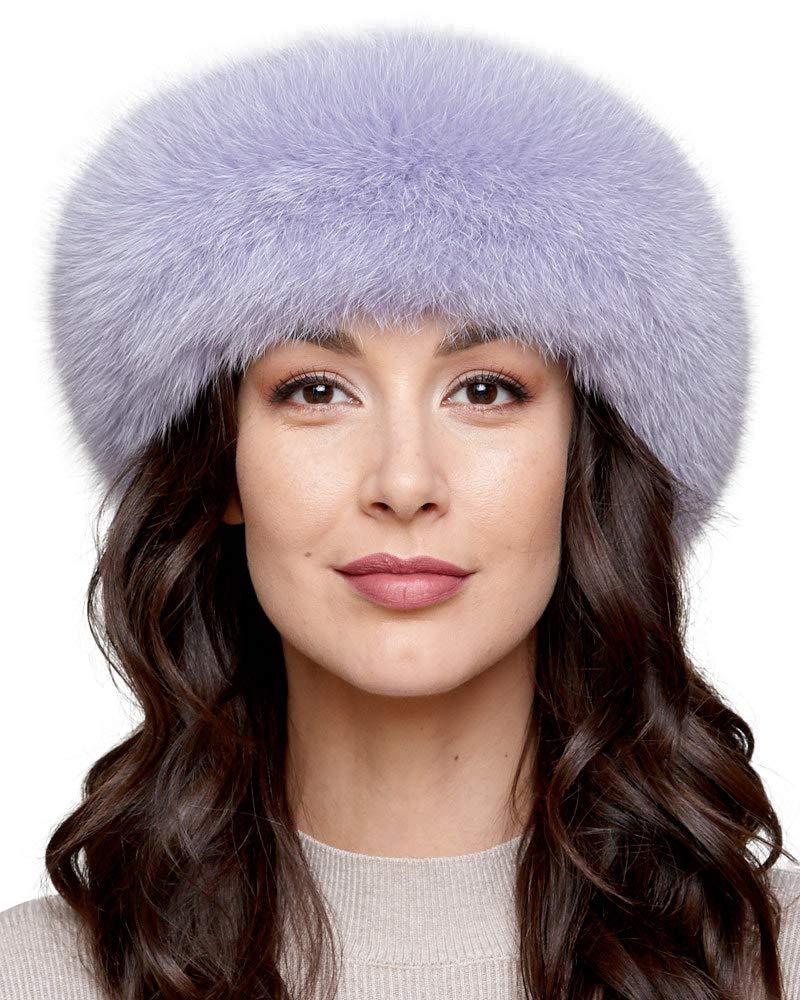 Lilac Fox Fur Headband