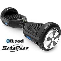 SagaPlay F1 Pro Motorized 2-Wheel Self Balancing Scooter with Bluetooth Speaker (Black)