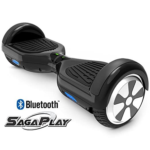 SagaPlay F1 Pro Self Balancing Scooter Motorized 2 Wheel Self Hover Balance Board (Black, Bluetooth Speaker Enable) [CSA/UL2272 Certified] All-Terrain Tires Transporter for Kid and Adult [Model: F1]