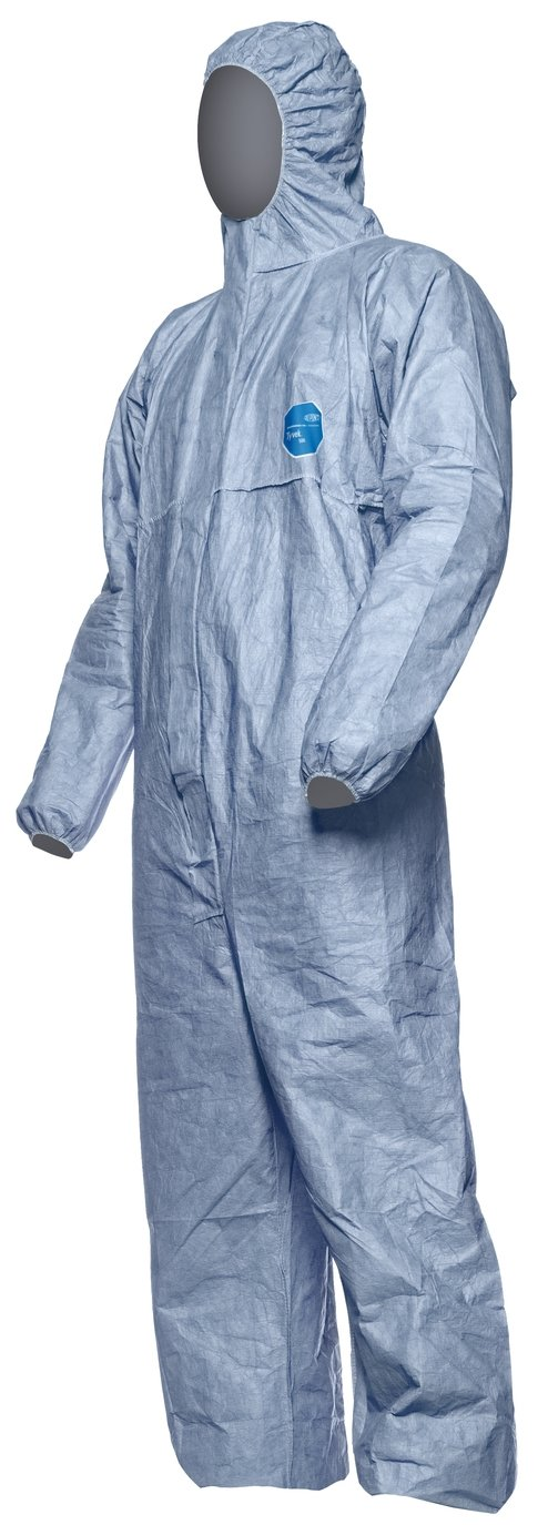 DuPont Tyvek 500 Xpert | Chemical Protective Clothing with Hood, Category III, Type 5-B and 6-B |  Robust yet Lightweight  | White | Size S D14663953