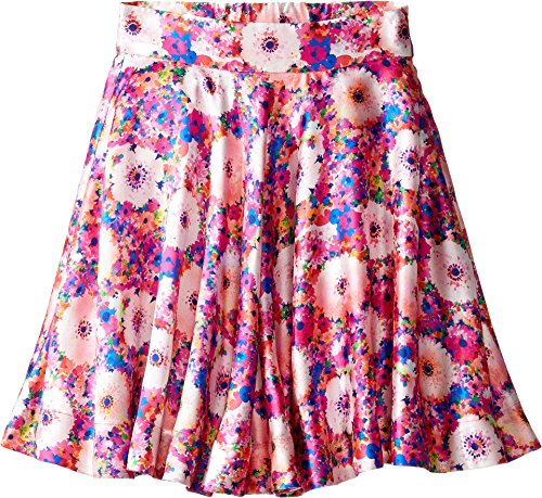 OSCAR DE LA RENTA Childrenswear Baby Girl's Rainbow Dahlia Mikado Circle Skirt (Toddler/Little Kids/Big Kids) Flamingo 8 ()
