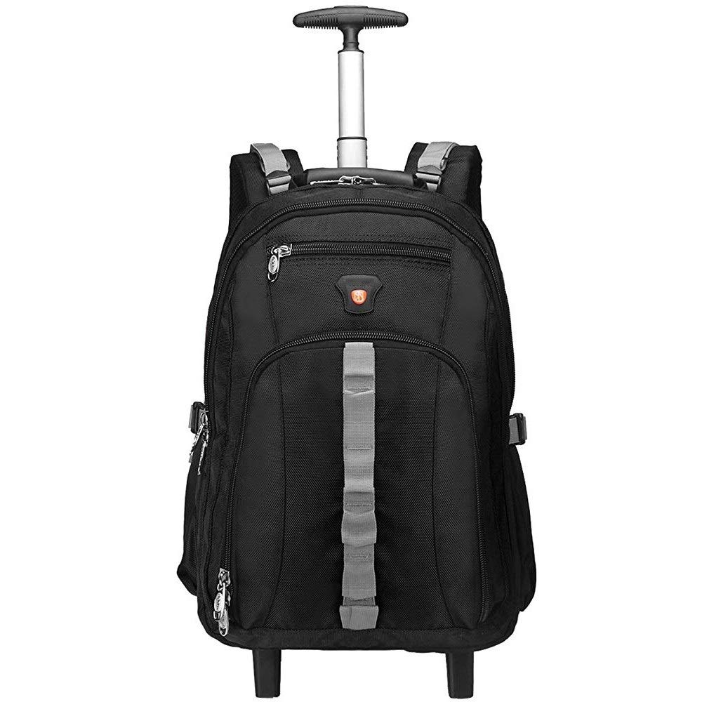 Kylinllx Trolley Bag 20 Inches Backpack Travel Business Boarding Bag Backpack Tour with Wheels (Color : Black) by Kylinllx