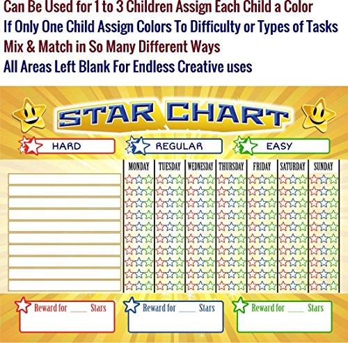Bigtime Magnetic Behavior / Star / Reward Chore Chart For