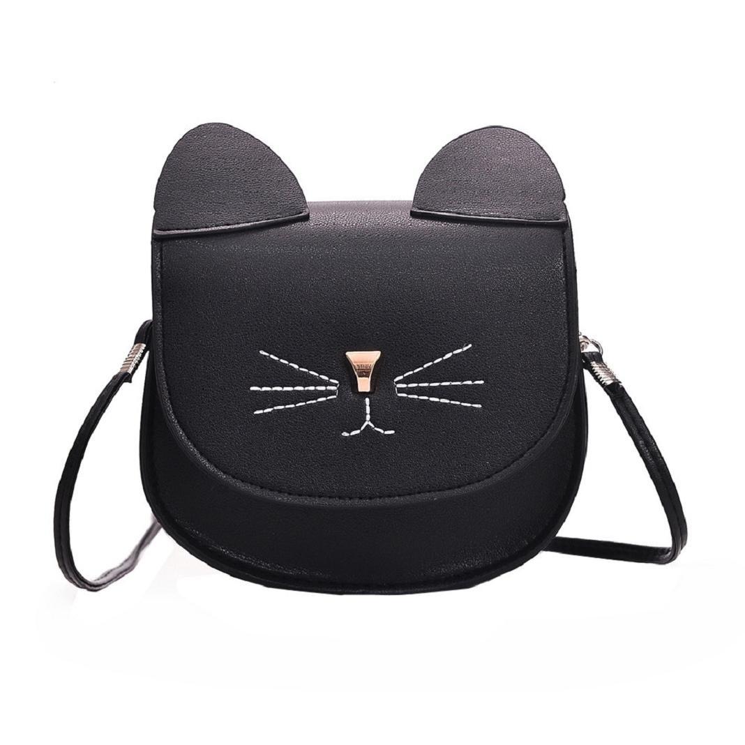 9263a20ed9f ShenPr Women Purse Kitty Cat Satchel Shoulder Bag Handbag Tote Leather  Shoulder Bag Crossbody Bag