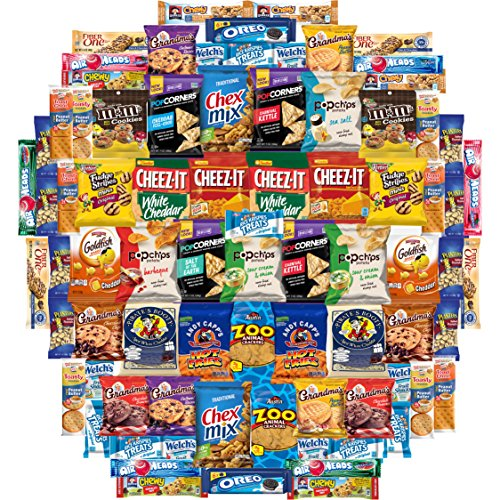 Cookies Chips & Candies Snacks Variety Pack (Care Package 80 Count)
