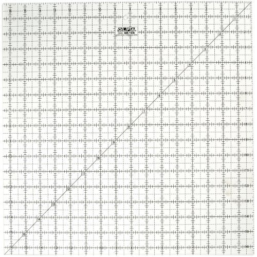 (OLFA 1071800 QR-16S 16-1/2-Inch Square Frosted Advantage Acrylic Ruler by Olfa)