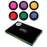 BMC 6pc Temporary Rub-On Highlight Streaks Mixed Color Pots Hair Dye Chalk-Set 1, Brights