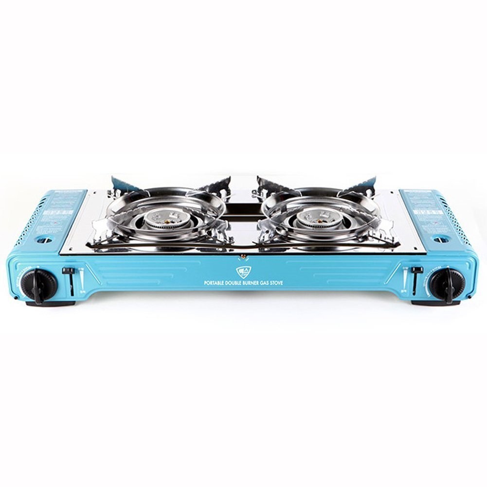 Max MSD-5800S Camping Backpacking Portable Double Burner Gas Stove Set