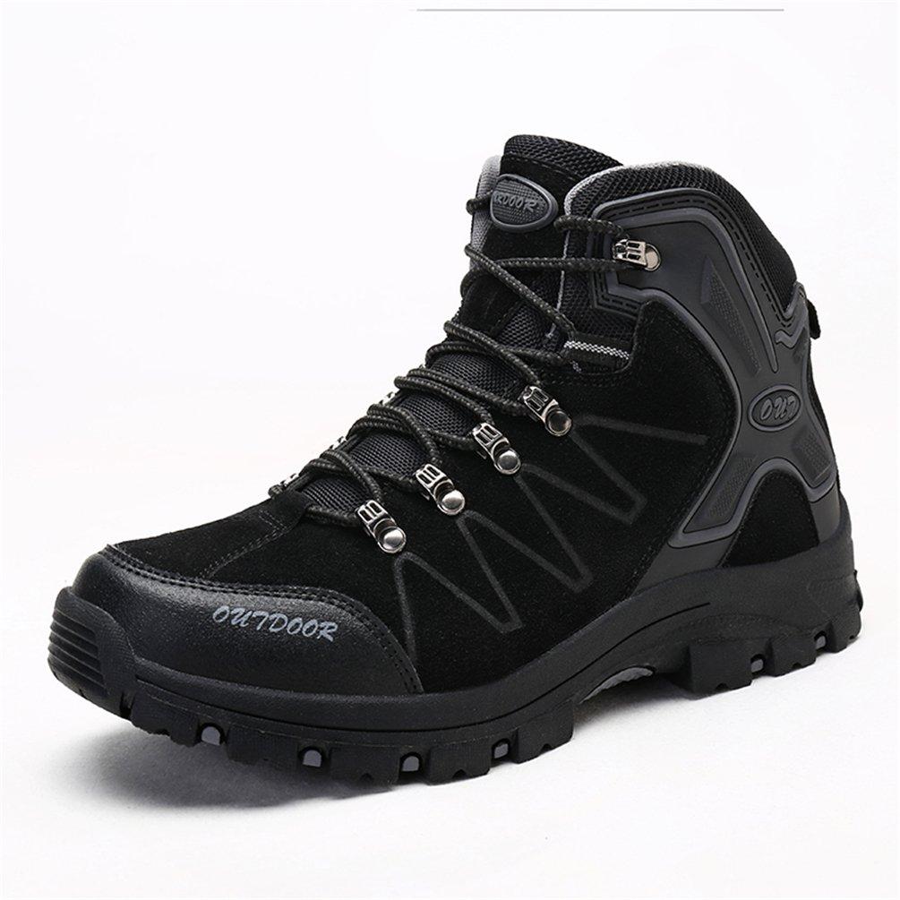 Men's Womens Hiking Shoes Waterproof Boot Lightweight Outdoor Sneaker for Walking Trekking-Black-43 EU