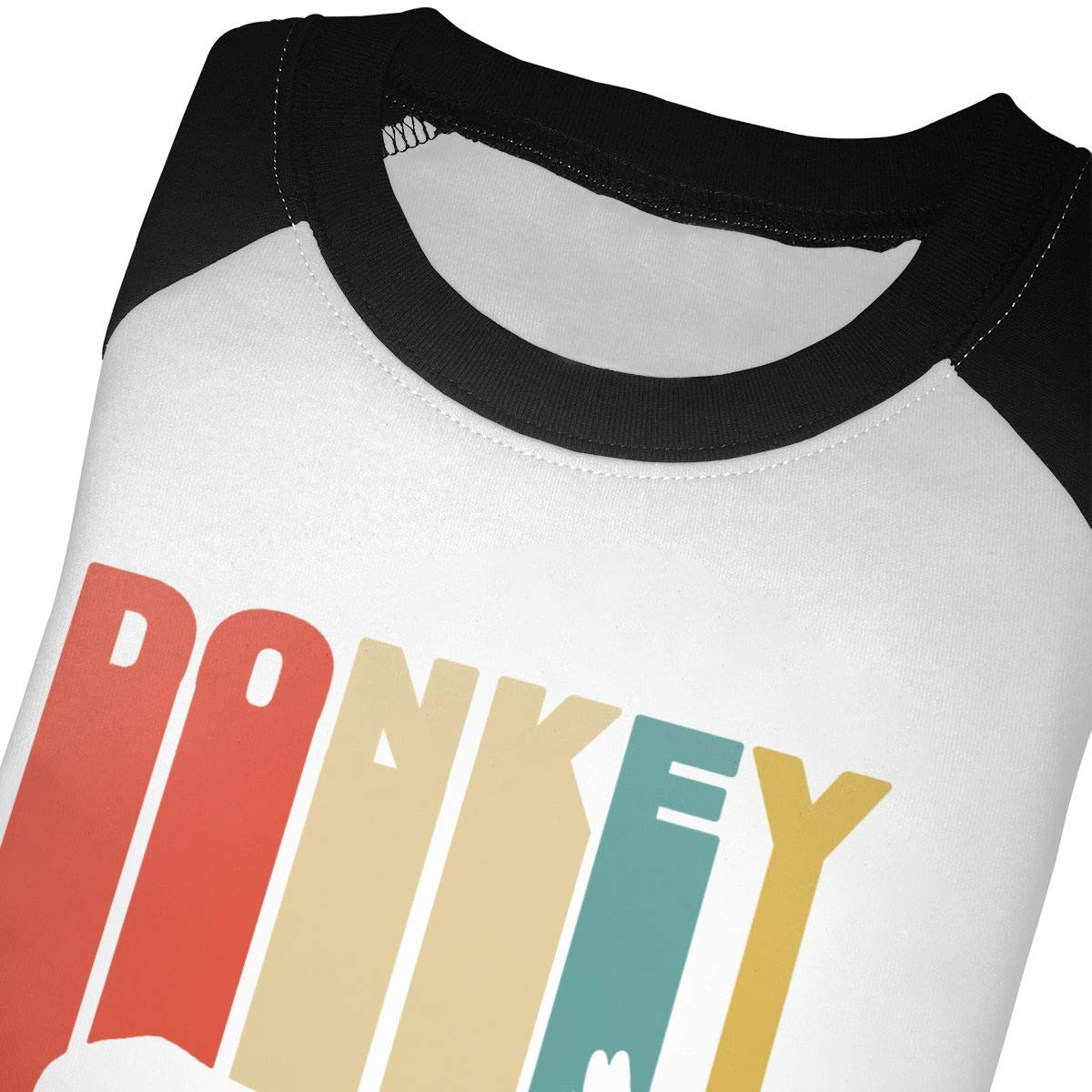 QPKMRTZTX0 Boys Girls Kids /& Toddler Retro Donkey Long Sleeve T-Shirt 100/% Cotton