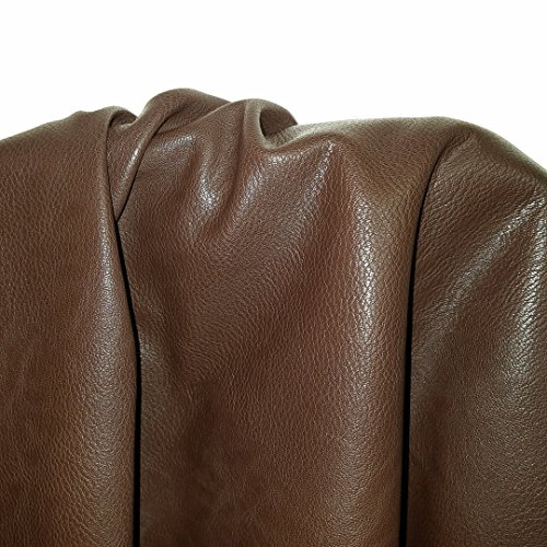 Brown Faux Vegan Leather Synthetic Pleather 0.9 mm Morris Pebblegrain 1 Yard 54 inch Wide x 36 inch Long Soft Smooth Vinyl Upholstery (Brown Morris)
