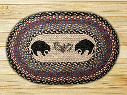 Heart of America 13in. x 19in. Black Bears Oval Placemat