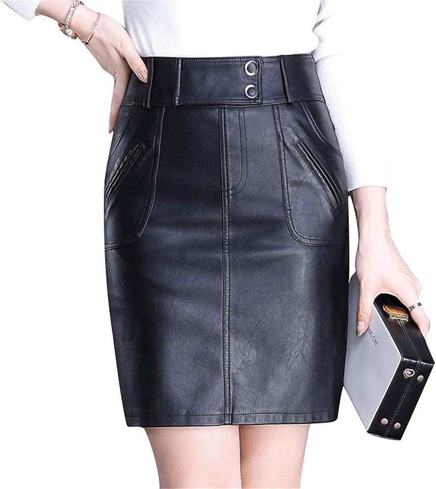 Xiuy Cuero Mini Falda Bonitos Elasticos Skirt Elegante Sexy Faldas ...