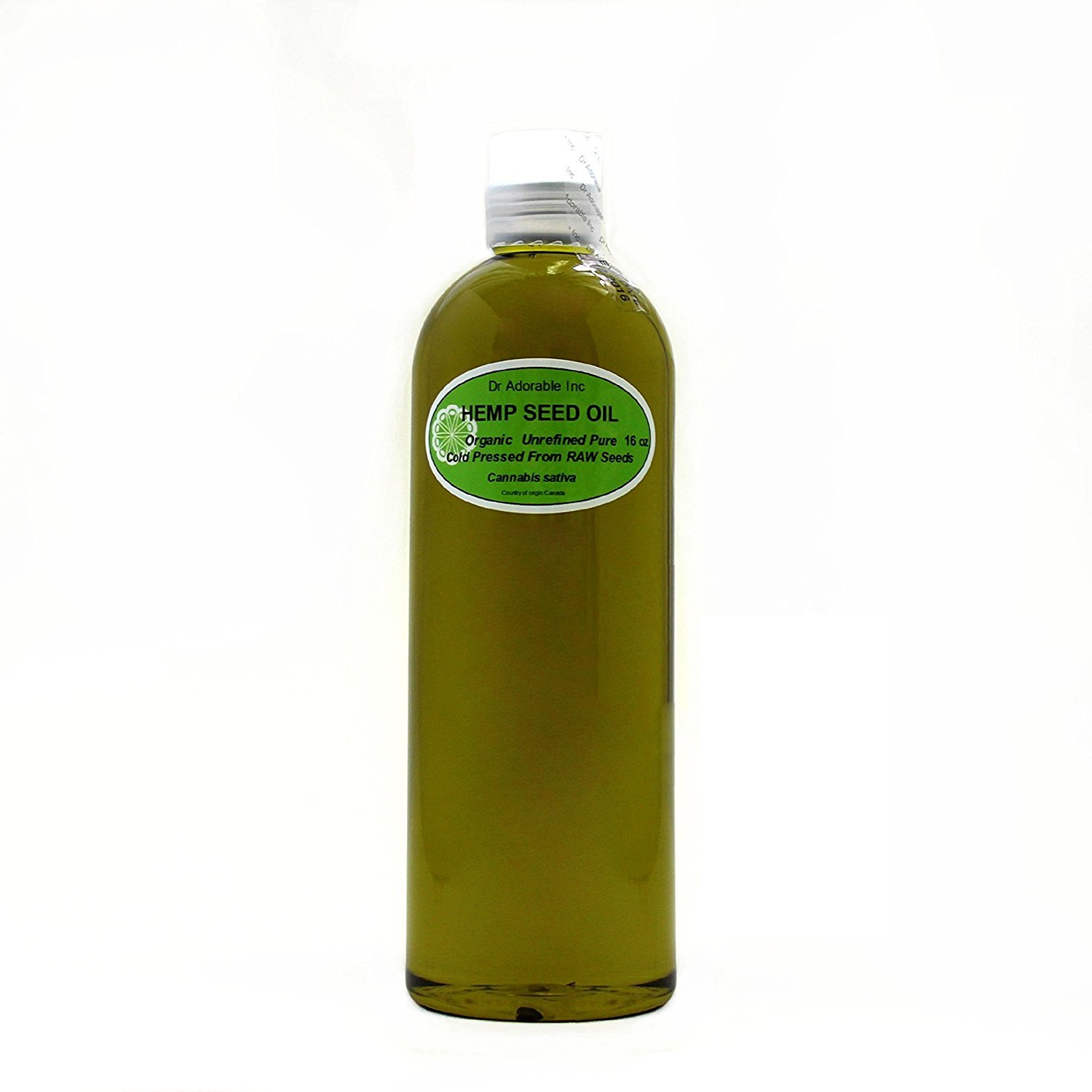 Hemp Seed Oil Pure Organic Cold Pressed by Dr.Adorable 16 oz/1 Pint