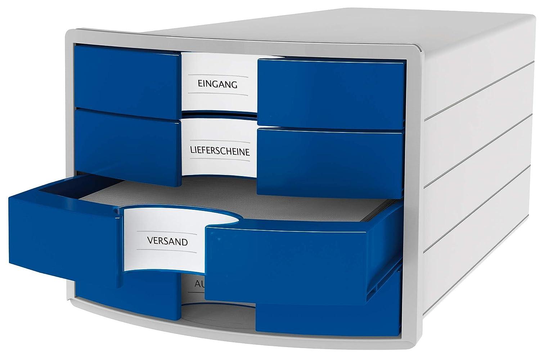 bianco. HAN 1012-12 Cassettiera IMPULS Con 4 cassetti chiusi e con grandi etichette per la descrizione del contenuto design innovativo ed attrattivo di alta qualit/à