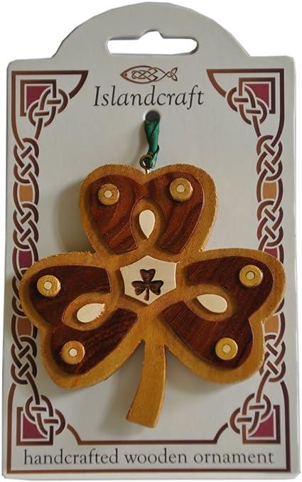 Irish Wooden Shamrock Hanging Decoration
