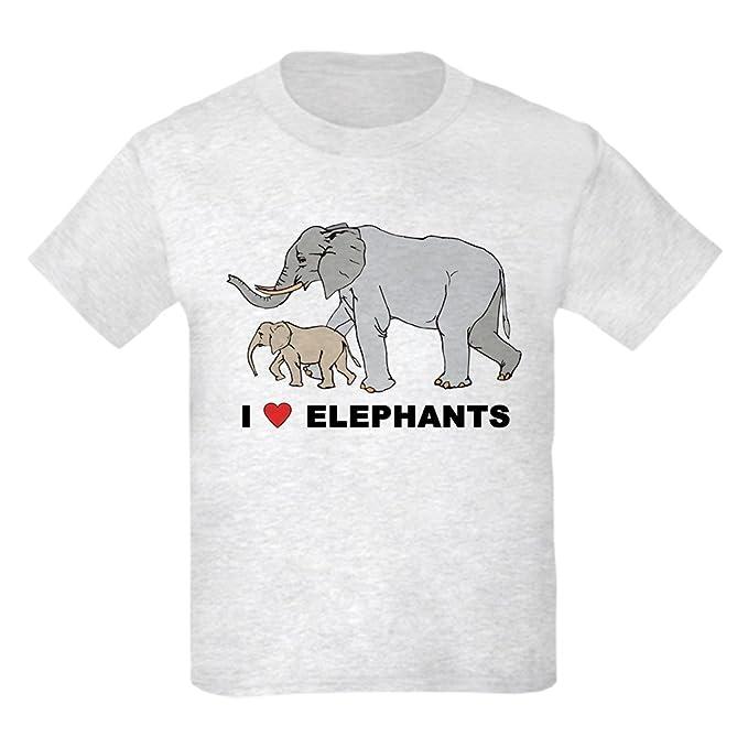 959f902707177 Amazon.com  CafePress - I Love Elephants Kids T-Shirt - Kids Cotton ...