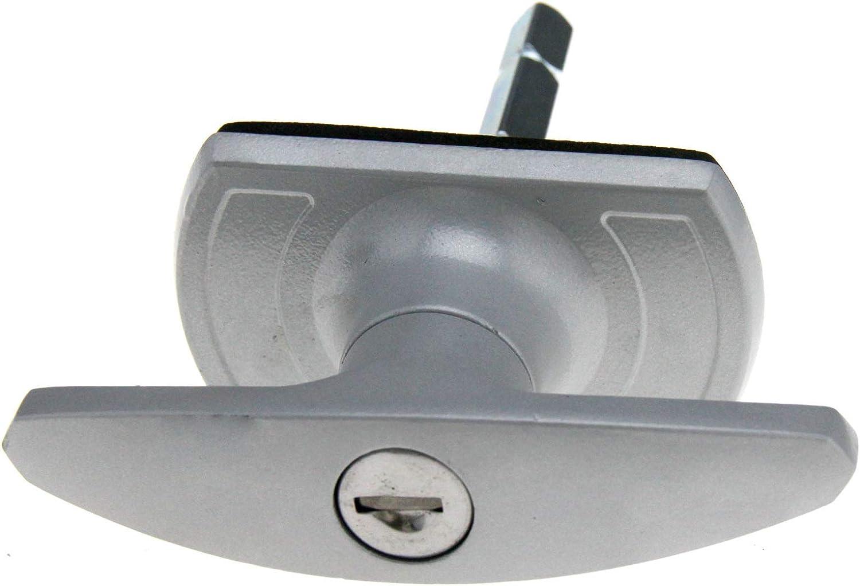 Argent Serrure de porte de garage en T 18 mm avec embout carr/é compatible avec Henderson